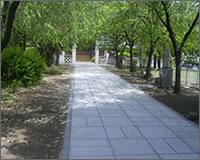 お寺様の外構工事・歩きやすい参道
